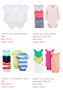 carters 4 and 5 pack of body suits