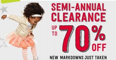 crazy 8 semi annual clearance sale
