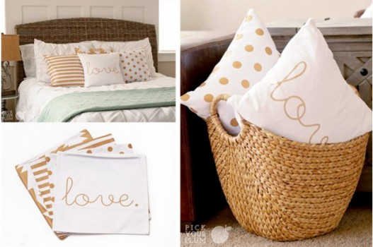 gold detail throw pillow covers