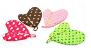 heart oven mits