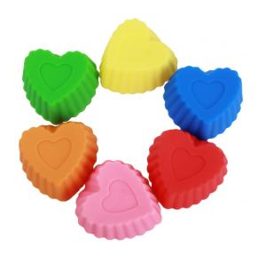 heart silicone cupcake