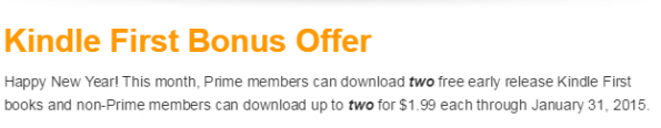kindle first bonus offer