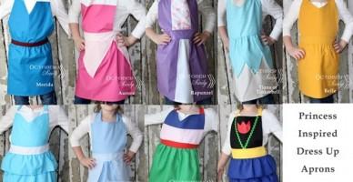 princess inspired aprons