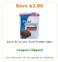 pure protein coupon
