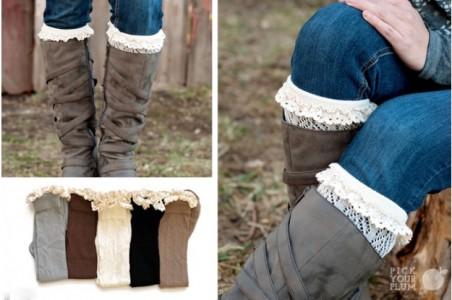 ruffle knit boot socks