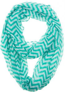 teal chevron scarf