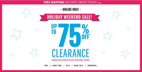 the children's place 75 off clearance