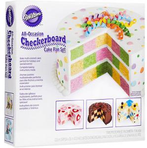 wilton checker board cake