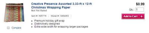 wrapping paper lowes