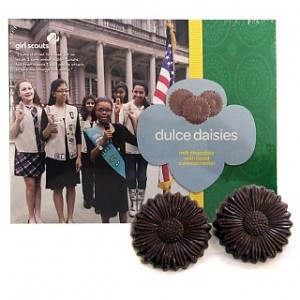 2 Boxes of Girl Scouts Dulce Daisies Milk Chocolate Cookies With Gooey Caramel Centers