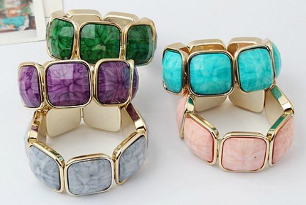 Bezel Stone Bracelet