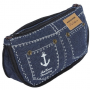 Denim Canvas Cosmetic Bag