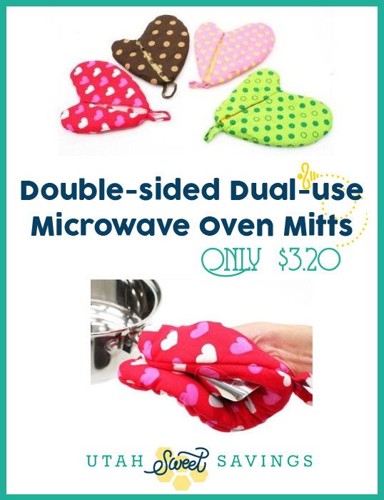 Double-sided Dual-use Microwave Oven Mitts $3