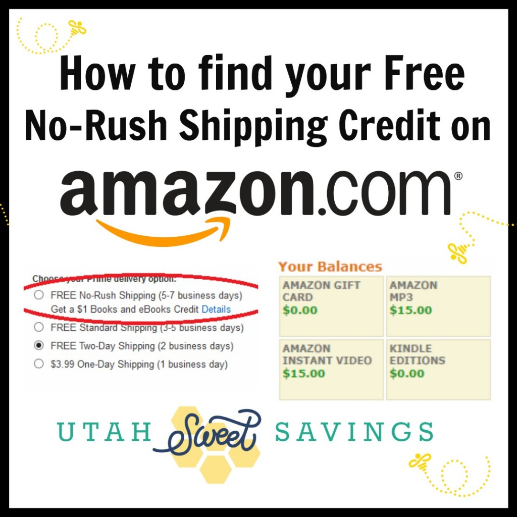 How to find your no rush shipping on Amazon