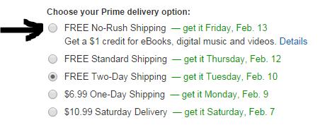 No Rush Shipping