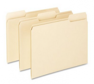 Pendaflex Essentials File Folders, 1 3 Cut, Top Tab, Letter, Manila, 100 Per Box