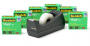 Scotch Magic Tape 6-Roll Value Pack with C38 Black Dispenser
