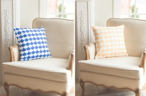 Solid Scallop 18 x 18 Pillow Cover - 3 Colors!