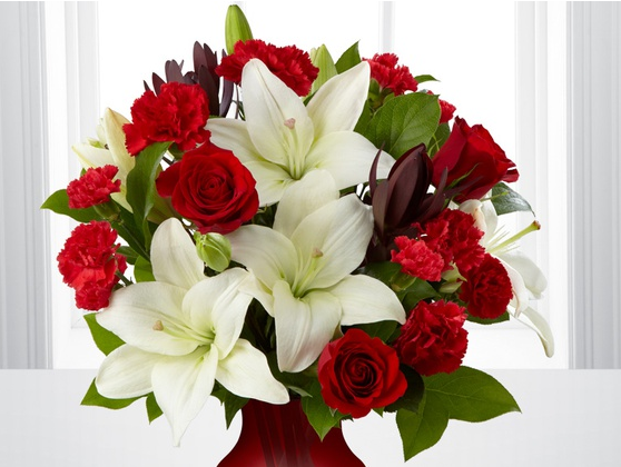 Valentine's Day Bouquet and Vase from FTD