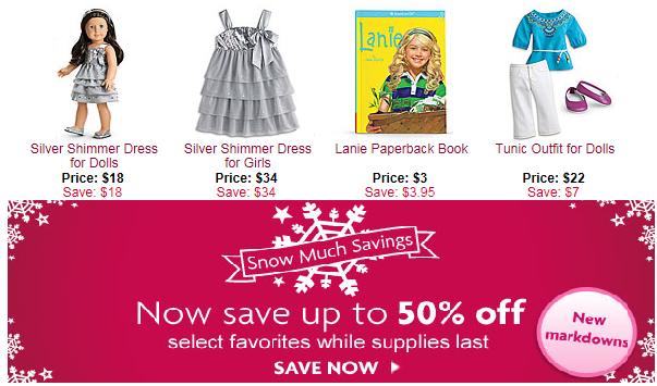 american girl sales