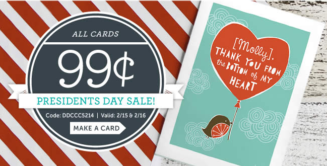 cardstore 99 cards presidents day sale