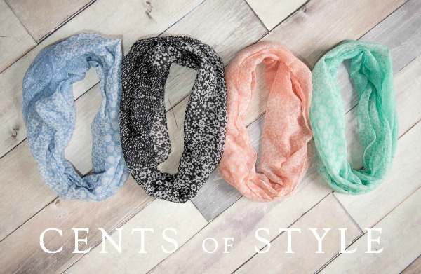 cents of style spring infinity scarves fashion friday deal
