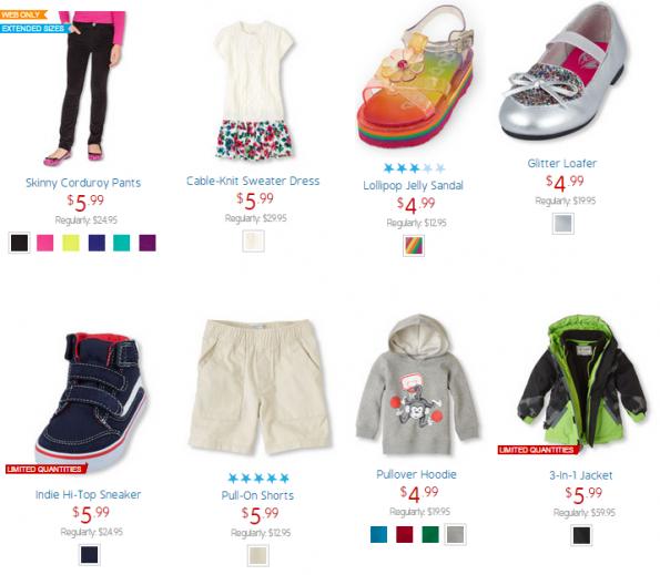 children's place clearance sale