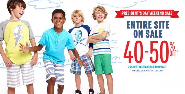 children's place presidents day sale