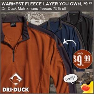 dri-duck matrix nano fleeces