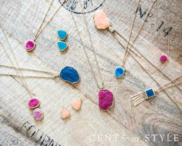 druzy-style jewelry