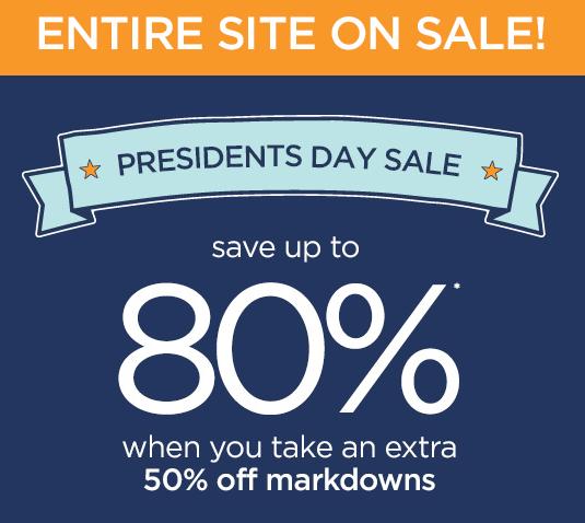 gymboree presidents day sale