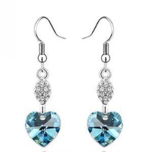 heart crystal earings