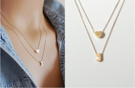heart in necklace