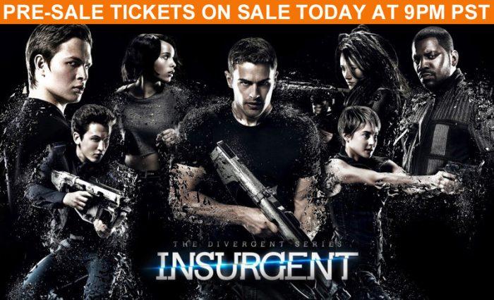 insurgent pre-sale tickets