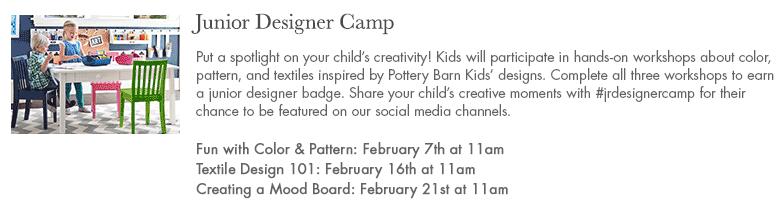 pottery barn kids junior designer camp