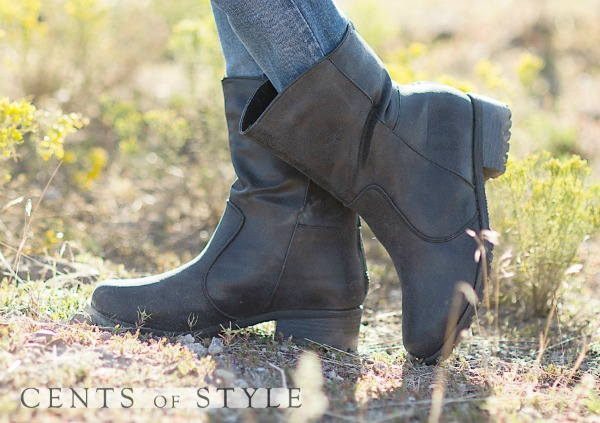 short distressed boot