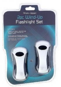 2pc Wind-up Flashlight Set