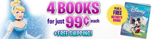 4 disney books cinderella