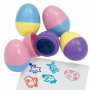 6 Piece Easter Egg Stamping Set