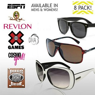 8 Pack Of Name Brand Sunglasses