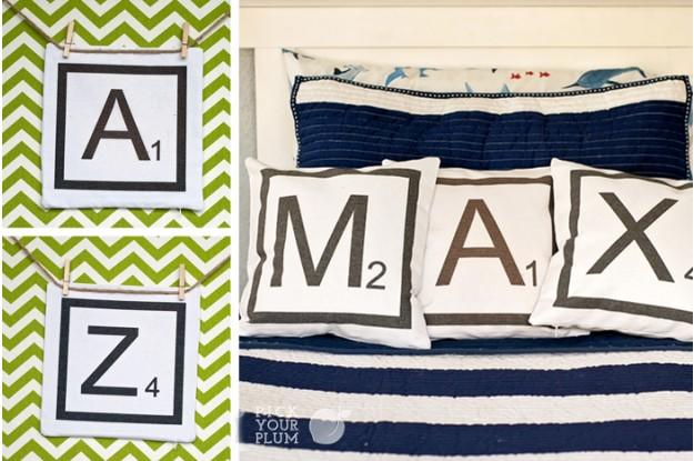 Alphagram - Pillow Covers