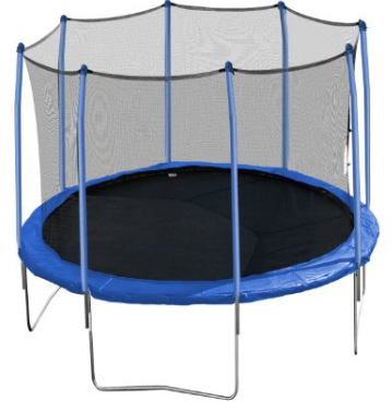 Aura Round Trampoline and Enclosure with Blue Spring Pad
