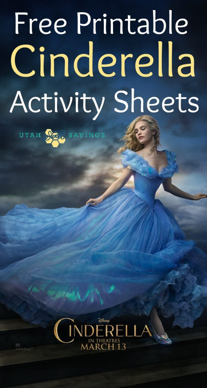 Free Printable Cinderella Activity Sheets And Coloring