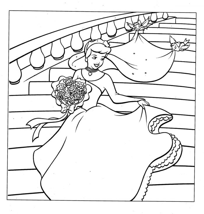 Cinderella Coloring Pages Games Online Coloring Pages