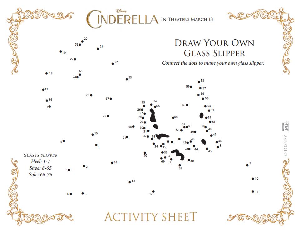 Cinderella connect dots