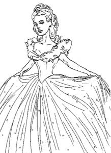 Coloring Page New Cinderella