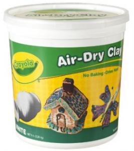 Crayola Air Dry Clay 5 Lb Bucket, White