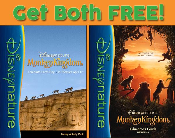 Disney Nature Monkey Kindgom freebies