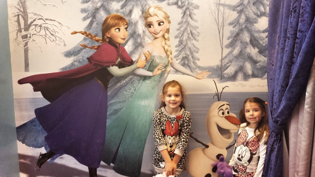Girls with Anna and Elsa Downtown Disney