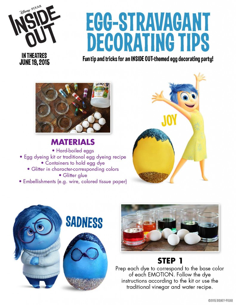 Disney Pixar Movie Inside Out FREE Activity Sheets